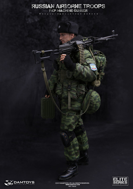 "[DAM-78025] DAM TOYS Russian Airborne Troops - PKP Machine Gunner 12"" Tall Boxed Figure"