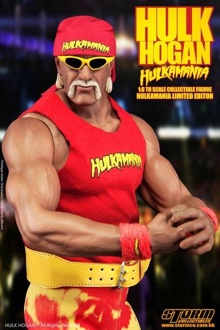 "[SM-1502] Storm Collectables Wrestler Hulk Hogan ""Hulkamania"" 1:6 Action Figure"