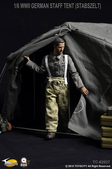 [TC-62027S] Toys City WWII German Staff Tent Stabszelt Figure Accessory