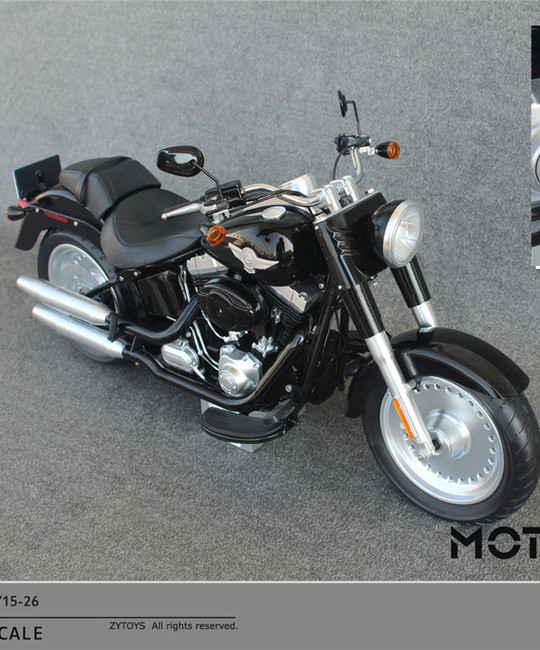 [ZY-15-26A] ZY Toys Motorcycle Cruiser in Black for 1:6 Scale Figures