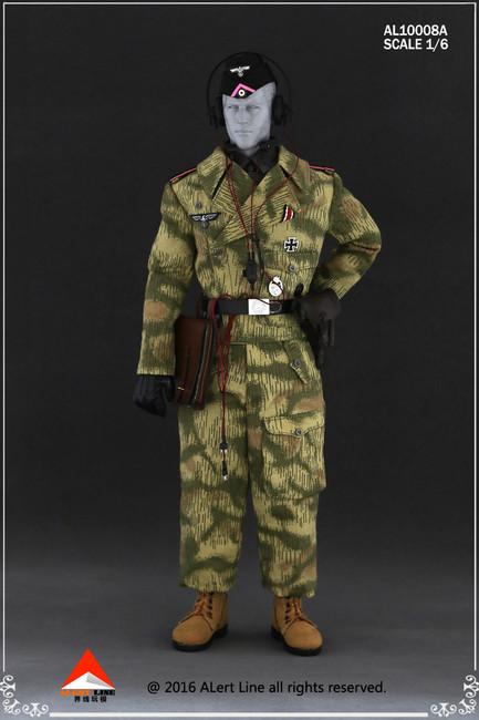 [AL-10008A] Alert Line WWII German Swamp Camouflage SS Tank Crew Overalls Set