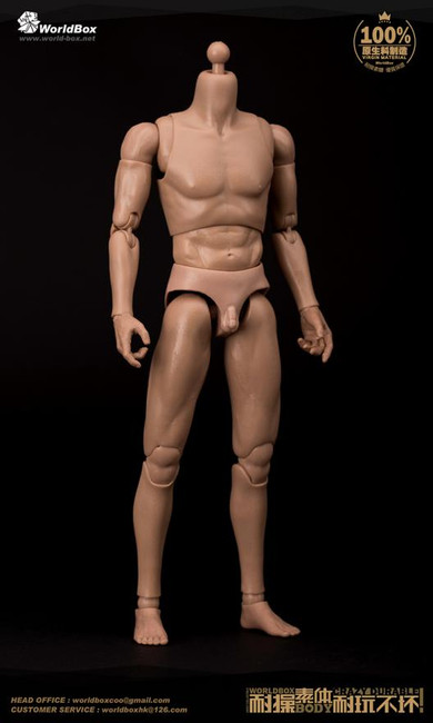 [WB-AT011] World Box Narrow Shoulders Articulated Male Body