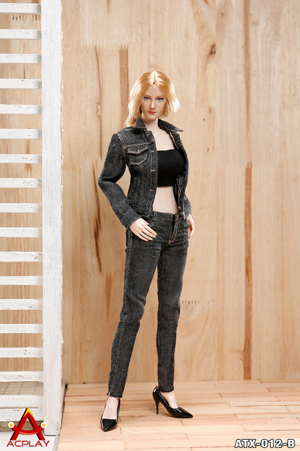 [AP-ATX012B] ACPLAY 1:6 Cowgirl Female Clothing Set in Black