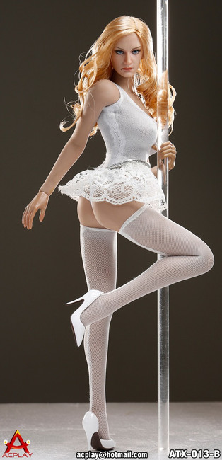 [AP-ATX013B] ACPLAY 1:6 Pole Dancer Outfit in White For Phicen Bodies