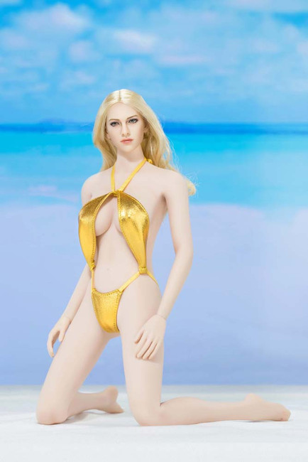 [AP-ATX016E] ACPLAY Swimming Suit in Gold For 1:6 Female Bodies