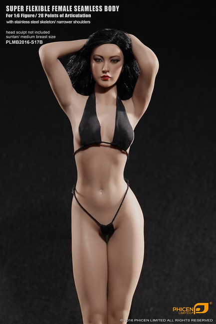 [PLMB2016-S17B] Phicen Limited Female Super Flexible Tan Seamless Body Series without Head Sculpt