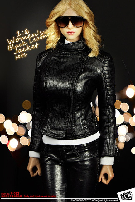 [MC-F062] MC Toys Women's Black Leather Jacket Sets