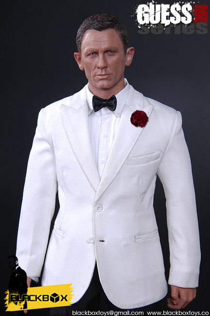 [BB-9002-W] Black Box Toys Guess Me Series in White Tuxedo Boxed Figure