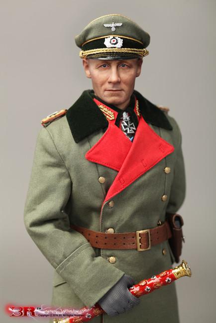 [GM636] DiD 3R 1/6 Figure WWII German Erwin Rommel Generalfeldmarschall Atlantic Wall 1944