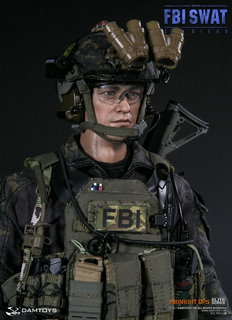 [DAM-78044B] DAM Toys FBI SWAT Team Agent San Diego Midnight Ops 1/6 Boxed Figure