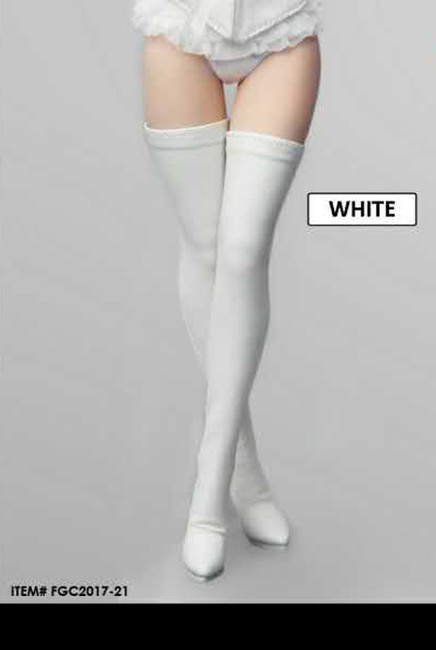 [FGC2017-21] 1:6 Flirty Girl's Hollow White High Boots (ICE QUEEN) for Female Figures