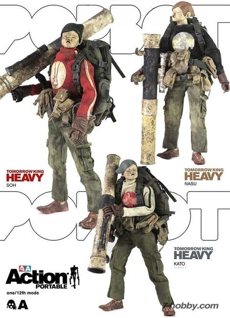 "[3A-HTK-3PACK] THREEA Action Portable Heavy TK 3 Pack 6"" 1/12 Figure"