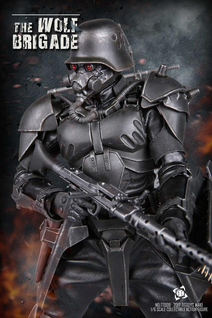 [TIT-009] TIT Toys The Wolf Brigade-black Wolf Boxed Figure