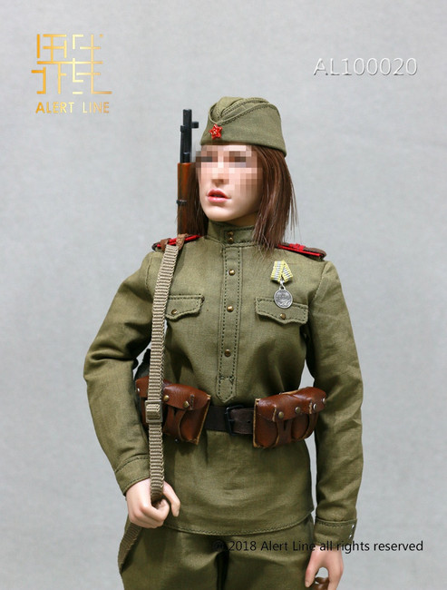 [AL-100020] Alert Line 1:6 WWII The Soviets Female Soldier Sniper Accessories