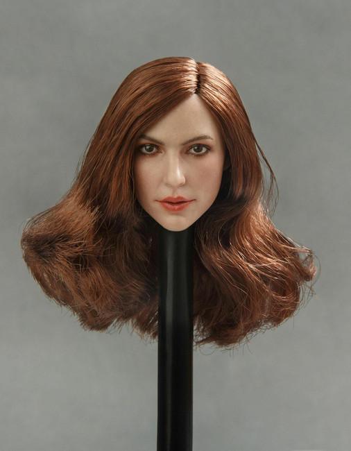 [GAC-013B] GACTOYS European and American Women's 1/6 Head Sculpture Dark Brown