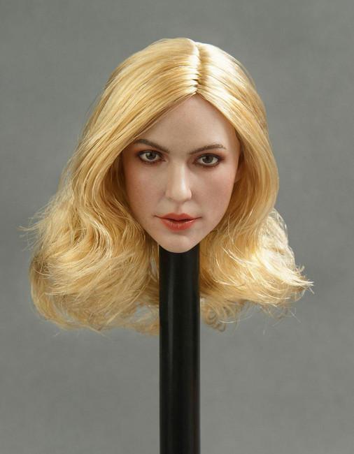 [GAC-013C] GACTOYS European and American Women's 1/6 Head Sculpture Blonde Hair