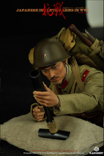 [KH-NB10N] KAD Hobby WWII Japanese Infantry Army with New Machine Gun Tooling