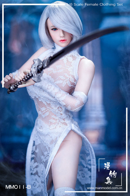 [MM-11B] Manmodel 1/6 MISS 2B's Lace Cheongsam in White