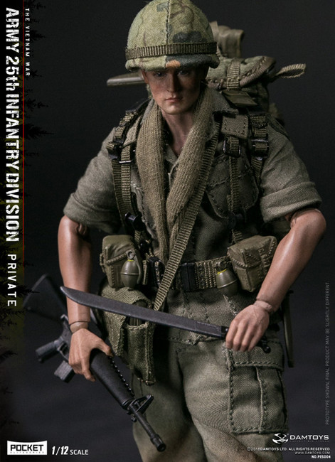 [DAM-PES004] DAM Toys 1/12 ARMY 25th Infantry Division Private Figure