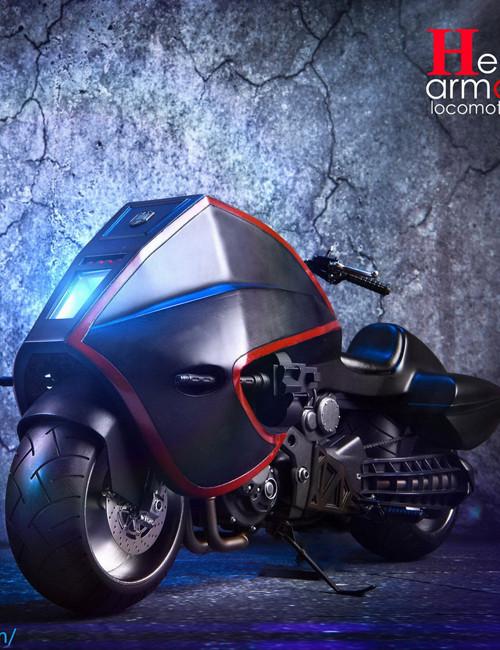 [SF-003A] Special Figures 1:6 Black Heavy Armored Locomotive Motorcycle