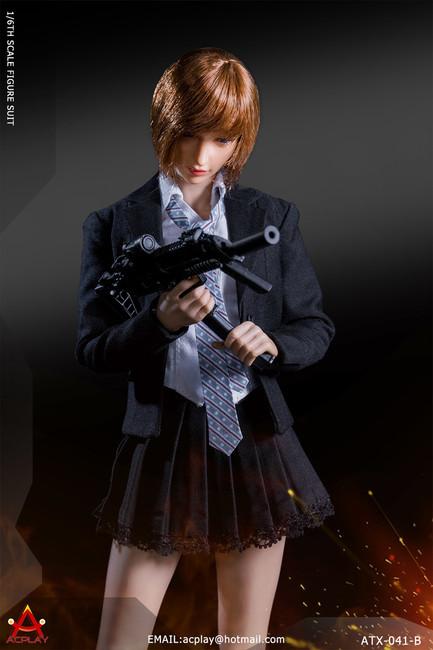 [AP-ATX041B] ACPLAY 1:6 Black Battle Girl's Uniform for Female Figures