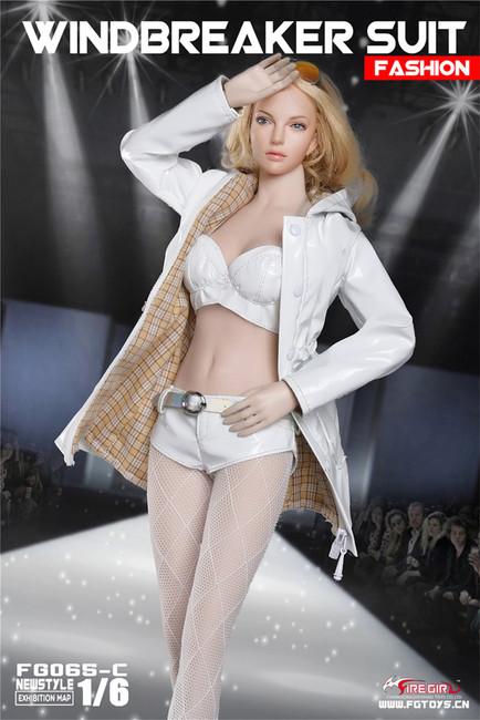 [FG-065C] 1/6 Fashion White Windbreaker by Fire Girl Toys