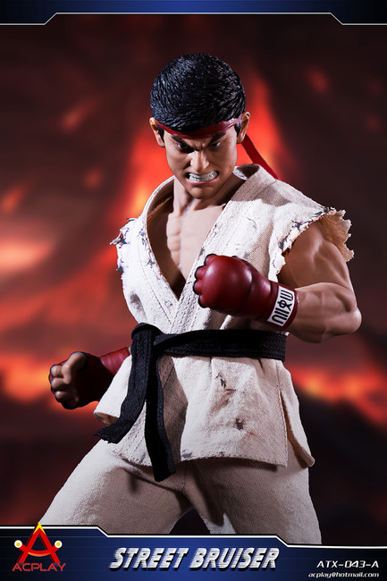 [AP-ATX043A] 1/6 White Street Bruiser Martial Artist with Head by ACPLAY