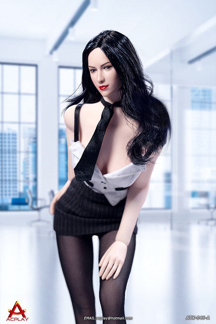 [AP-ATX046A] 1/6 Sexy Female Secretary White Suit by ACPLAY
