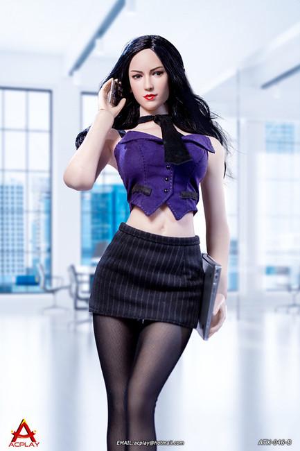 [AP-ATX046B] 1/6 Sexy Female Secretary Purple Suit by ACPLAY