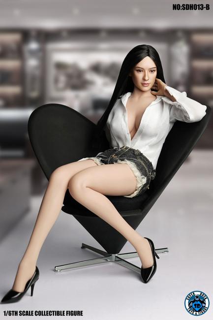 [SUD-SDH013B] 1/6 Asian Headsculpt 4.0 with Long Hair by Super Duck