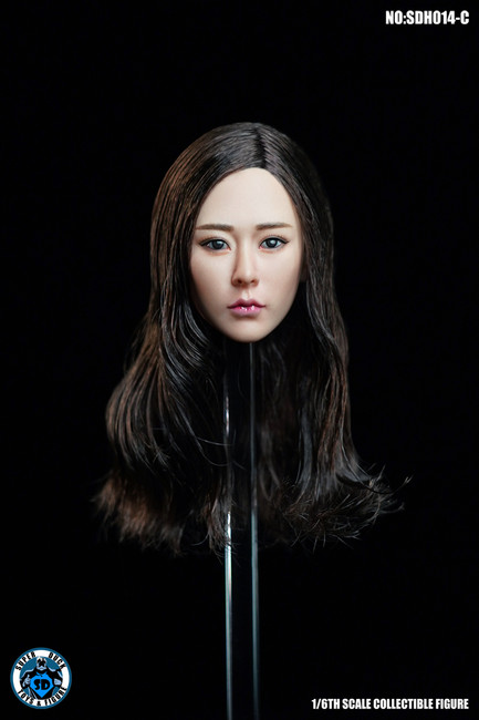 [SUD-SDH014C] 1/6 Asian Headsculpt 5.0 with Curly Hair by Super Duck