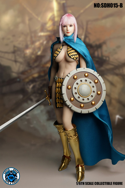 [SUD-SDH015B] 1/6 Asian Anime Headsculpt 6.0 with Pink Hair by Super Duck
