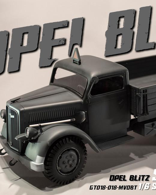 [GT-018-MVOBTCG] 1/6 Opel Blitz Truck Sd.Kfz.305 Cargo in Gray by GO-TRUCK