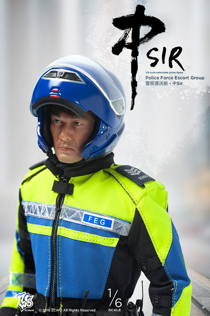 [ZC-292] 1/6 Hong Kong Police Force Escort Group Chung Sir Figure by ZC World