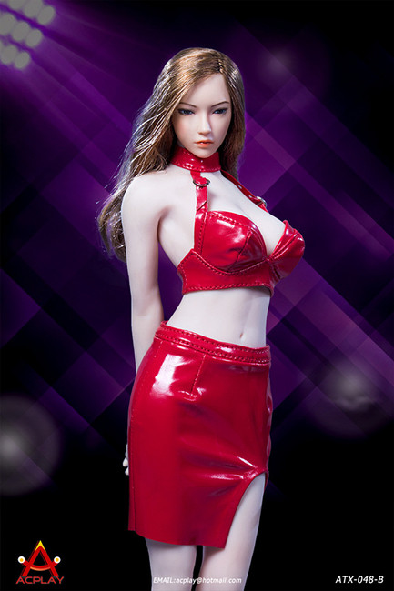[AP-ATX048B] 1/6 Sexy Lady Red Leather Skirt by ACPLAY