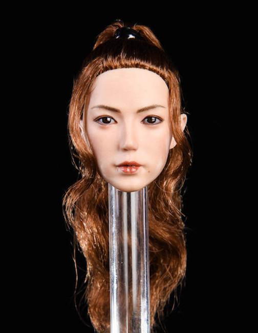 [YMT-019B] 1/6 Asian Female Head with Black Hair by YM Toys