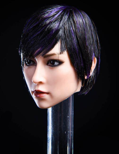 [YMT-020B] 1/6 Asian Female Head with Black Hair by YM Toys