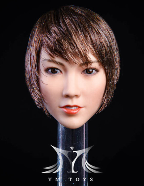 [YMT-021C] 1/6 Asian Female Head with Blonde Short Hair by YM Toys