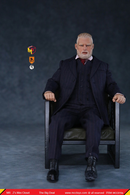 [MCC-019A] 1/6 The Big Deal Suit in Dark Blue Figure by MCC TOYS