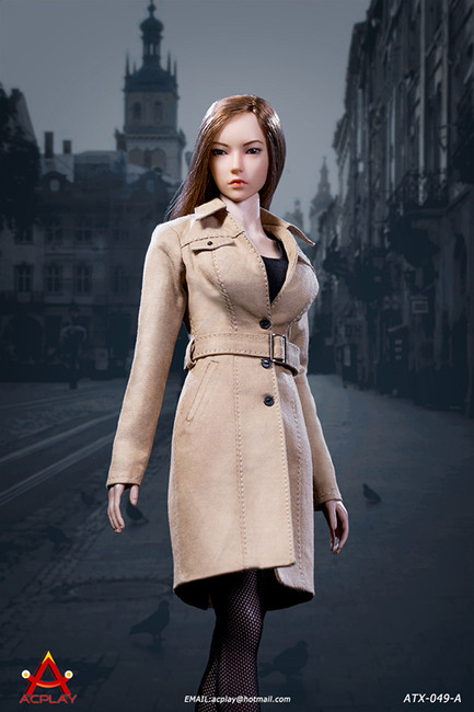 [AP-ATX049A] 1/6 Female Trench Coat in Tan by ACPLAY
