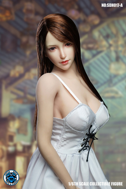 [SUD-SDH017A] 1/6 Asian Headsculpt with Long Hair by Super Duck