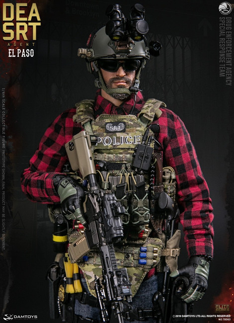 [DAM-78063] 1/6 DEA SRT Special Response Team Agent El Paso Figure by Dam Toys