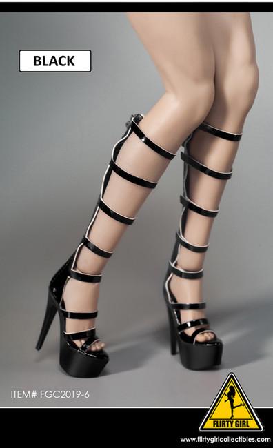 [FGC-2019-6] 1/6 Black Strap Female Fashion Boots by Flirty Girl's