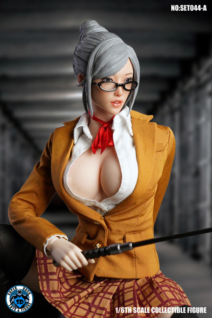 [SUD-SET044A] 1/6 Yellow Prison School Uniform by Super Duck for Phicen S20A