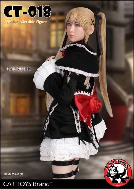 [CAT-018A] 1/6 Black Lolita Maid Female Character Figure by Cat Toys