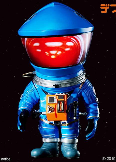 "[SA-6014] 6"" Tall 2001: A Space Odyssey 1968 Blue Discovery Astronaut Soft Vinyl Statue By Star Ace"