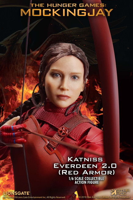[SA-0035S] 1:6 Katniss Everdeen 2.0 Red Armor Figure by Star ACE