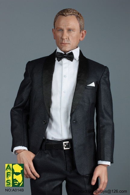 [AFS-A014D] 1:6 Royal Agent Black Suit Set with Head by AFS Toys