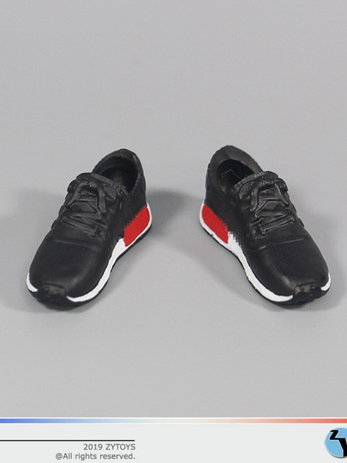 [ZY-1017A] 1/6 Female Black Running Sneakers by ZY TOYS