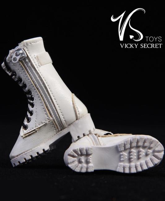 [VST-19XG43C] 1/6 Figure Zipper Boots in White by VS Toys